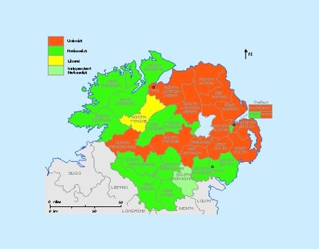 The December 1910 general election result in Ulster. (Sarah Gearty)