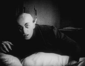 Still from the German expressionist silent film Nosferatu (1922), one of over 150 films inspired by Stoker's Dracula.