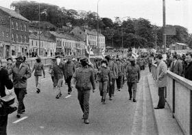 Many other working-class Loyalists watched the drama of 1969 with growing fear for the future of 'their' unionist Ulster and would gravitate to the much larger street army of the Ulster Defence Association, seen here parading in Duke Street, Derry, in 1972. (Victor Patterson)