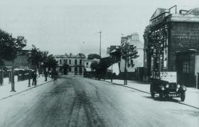 Tyroconnell Road, Inchicore, c.1932, with the cinema on the right where meetings of the strikers took place on 14 September and 4 October 1924. The latter in particular was a stormy affair that ended in uproar when Larkin stormed off the platform.