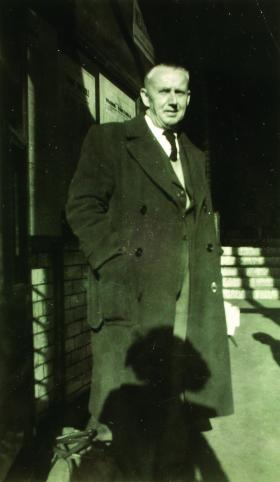 Sean McLoughlin later in life. After the strike, embittered by his experience, he left Ireland permanently for England.