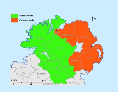 artition was explicitly suggested in June 1912 when Liberal MP Thomas Agar-Robartes moved an amendment to exclude permanently the four Protestant-majority counties of Antrim, Armagh, Down and Londonderry from the Home Rule bill's scope. (Sarah Gearty)