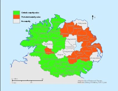 Poor Law unions, smaller and more compact in shape, appeared to offer a sounder geographical base for partition. (Sarah Gearty)