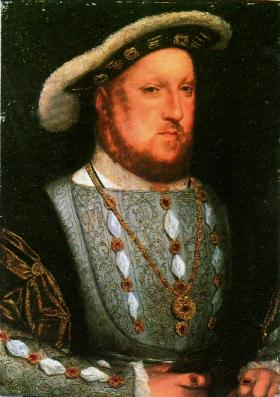Henry VIII at the time he was proclaimed Ireland's first English king in 1541. (Thyssen-Bornemisza, Madrid)