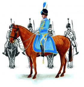 The Blue Hussars, established in 1931, made their first public appearance at the 1932 Eucharistic Congress. (John Conway)