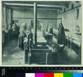 Interior of a Dublin Magdalen laundry in the 1890s. (British Library)