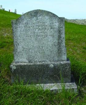 Grave of Luigi Tapparo, one of the 470 Italians to die on the Arandora Star, in Termoncarragh cemetery, Belmullet. (M. Kennedy)