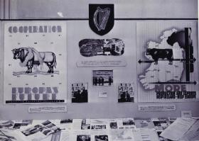 Part of an ERP exhibition in Ireland. Note the emphasis on agriculture. (National Archives of Ireland)
