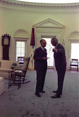 lbj oval office. Johnson In Conversation The Oval Office With Democratic Senator J. William Fulbright, Who Lbj H