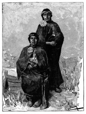 Nineteenth-century engraving of Mapuche Native Patagonians.