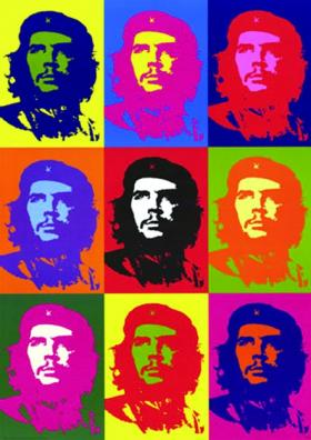 Andy Warhol's Che, based on the Jim Fitzpatrick poster.