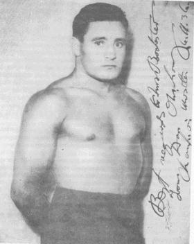 A 1936 publicity photo of Danno O'Mahony, signed by the man himself.