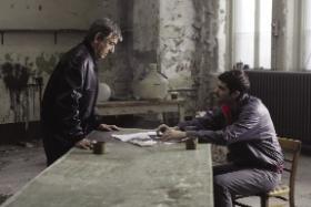 McGartland meets his handler.(All images: Handmade Films)