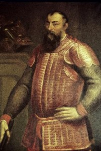 Right: Hugh O'Neill, earl of Tyrone—Cahir's father, Sir John O'Doherty, joined his Irish Confederation in the Nine Years' War (1594–1603) against England very hesitantly, on the understanding that Spanish promises of massive support for the Confederates were on the verge of being realised. (Lord Dunsany)