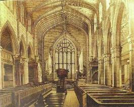 St Columb's, the first purpose-built Protestant cathedral constructed in these islands since the Reformation, with nave arcades rooted in the Gothic past (drawing by A. McFarland, 1862), marked a deliberate return to tradition, to the familiar, for settlers would have found their new home foreign and hostile. (St Columb's Cathedral, Londonderry)