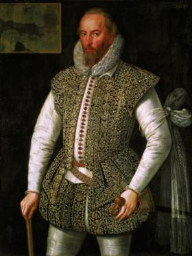 Sir Walter Raleigh—a prominent member of the Virginia Company—fought in Ireland, sponsored a settlement in Munster and tried to establish the first settlement in what he called Virginia, twenty years before Jamestown. (National Gallery of Ireland)