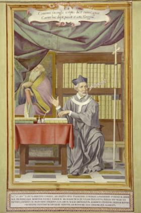 Portráid d'Fhlaithrí Ó Maolchonaire, Ardeaspag Thuama [portrait of Florence Conry, archbishop of Tuam]. (St Isidore's College, Rome, Foto Gioberti Studio)