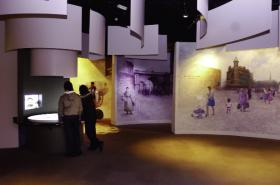 Orientation gallery in the 'Story of Derry', which now occupies the ground floor of the museum.