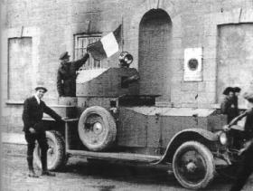 Right: A 'Royal Naval Pattern' Rolls Royce armoured car—this one was the first handed over to the Free State Army at Strand Barracks, Limerick, on the eve of the Civil War. (George Morrison)