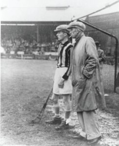 There are 442 sports-related entries, including Kilkenny hurler Lory Meagher, seen here (c. 1940s) giving a word of advice to Kilkenny goalkeeper Jim Dermody. (GAA Oral History Project)