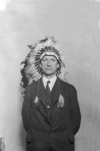Éamon de Valera in Wisconsin, 18 October 1919, where he was made chief of the Chippewa tribe. The 'Long Fella' gets the longest entry (14,000 words), by Ronan Fanning. (UCD Archives)