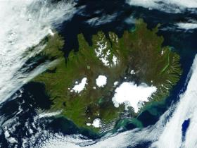 The diverse origins of the modern Icelandic nation have given rise to intense interest in the exact genetic make-up of the 300,000 souls that currently inhabit this isolated rock on the edge of the Arctic Circle. Even a random straw poll on the streets of Reykjavik would tell you that Icelanders are derived from more than Nordic stock: the pale, pasty yet somehow not quite Nordic complexion, the fierce and fiery shocks of ginger hair that occasionally assail you in the street, and the stark and pointed facial features that contrast with the classic Nordic look. (NASA)