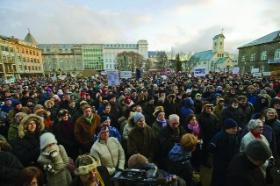 Banking systems in crisis, a more recent parallel in Irish and Icelandic history. Mass demonstrations in Reykjavik forced the government to resign in January 2009—a sign of things to come in Ireland?