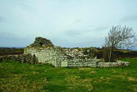The ruin of Kilbarron church outside Ballyshannon, Co. Donegal, near the site of the O'Clerys' bardic school