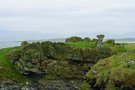 The crumbling ruin of their castle on a cliff top at nearby Creevy above Donegal Bay. (Sheila Gallagher)