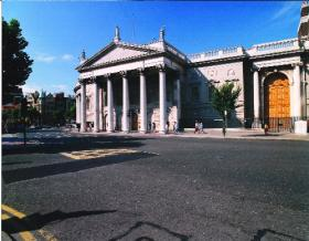 James Gandon's Corinthian entrance to the House of Lords (east portico), added to the original building between 1785 and 1789. (Bank of Ireland)