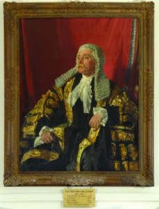 A 1922 painting of Lord Glenavy in traditional legal regalia by William Orpen. Glenavy was a giant in pre-Independence Irish law, serving as attorney general, chief justice and lord chancellor during the British administration. A staunch unionist, he helped Sir Edward Carson secure arms for the Ulster Volunteer Force in 1913, but had been cooperative with the Sinn Féin political order even before the establishment of the Free State. He positioned himself well enough that he was appointed to the Senate and was elected its chairman. (Private collection)
