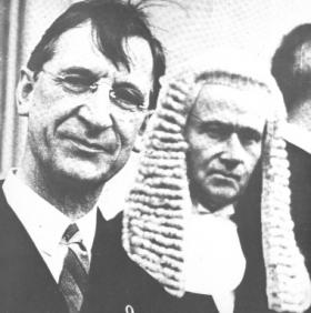 Éamon de Valera with Timothy Sullivan, who replaced Hugh Kennedy as chief justice after the latter's death in 1936, at the time of the adoption of the 1937 constitution. It did away with many aspects of the original Free State constitution but the wigs stayed. (Irish Times)