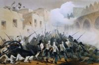 The 1st Madras Fusiliers in action during the Mutiny