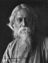 history bengali poet rabindranath tagore in 1921 his flowing beard and sweeping robe he seemed