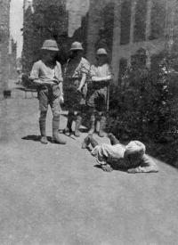 Dyer's most infamous edict in the wake of the massacre was the so-called 'crawling order' whereby Indians had to crawl on all fours past the spot where mission school teacher Miss Sherwood had been attacked on 10 April 1919. (National Army Museum, London)