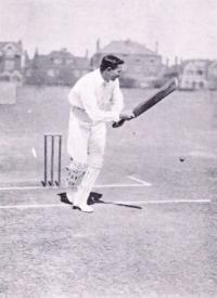 Ranji's cricketing wizardry triumphed over racism when, in 1896 against Australia, he become the first non-white to play test cricket for England in a career that set batting records that still stand today. (Reinhold Thiele)
