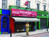 A halal shop on Clanbrassil Street, near Leonards' Corner, once the heart of 'Little Jerusalem', Dublin's Jewish quarter. Sourcing halal meat in Dublin is no longer the problem it was in the '50s.