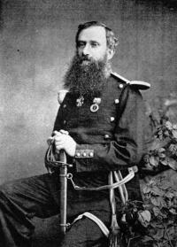 Above: Major Myles O'Reilly (1825–80)—in command of the Irish unit, newly christened the Battalion of St Patrick.