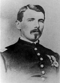 1862 carte de viste of Myles Walter Keogh, probably the best known of the pope's Irishmen, in Union Army captain's uniform. He later served with General Custer's 7th Cavalry and was killed at the Battle of the Little Big Horn in 1876.