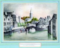 Elizabeth Fort (left) and St Fin Barre's Cathedral (centre) in 1796. This picture of the south bank of the River Lee shows how close the monastery of Cork (where the cathedral was later built) was to the Viking settlement at the site of the late South Gate Bridge. (Crawford Art Gallery)