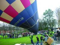 Ranelagh Gardens, January 2010—balloonist Tom McCormack attempts (unsuccessfully) to re-enact Crosbie's flight to mark its 225th anniversary. (P.D. Lynch)