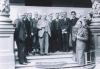 Hans Hartmann (sixth from left) at a meeting of the Irish Folklore Commission in the National Museum of Ireland in 1937. Museum director (and Dublin's Nazi Party leader) Adolf Mahr is fourth from the left. (Dept of Folklore, UCD)