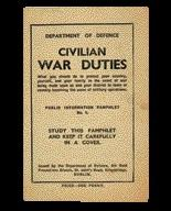 Civilian war duties—this Department of Defence pamphlet included drawings of the shelter for those who could afford the £10–10s. it cost to build.(All images: National Museum of Ireland)