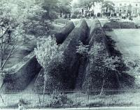 Stockpile of turf in Galway's Eyre Square during the Emergency. As the threat of invasion receded after 1941, the Irish army was increasingly deployed on non-military duties, such as helping with the harvest, disposing of animal carcases (after foot-and-mouth outbreaks) and cutting turf. According to one would-be deserter, '. . . we were fed up working in the bog, cutting turf . . . we were supposed to be soldiering'. (Tom Kenny)