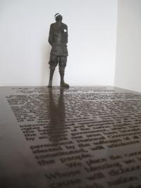The Proclamation by Rowan Gillespie (bronze, 2009)—one of the exhibits in the 1916 Room.