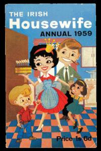 Cover of the Irish Housewives' Association magazine, The Irish Housewife, 1959, published from 1946 until 1967. (National Archives of Ireland)