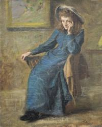 Portrait of Eva Gore-Booth painted by her sister, Countess Markievicz. (Lissadell Collection)
