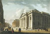 Apart from the Ouzel Galley Society, the other prominent commercial club was the Committee of Merchants, radical businessmen who organised and funded the erection of the Royal Exchange, now Dublin City Hall. (National Library of Ireland)