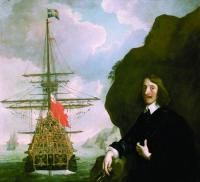 Peter Pett and the Sovereign of the Seas. The Sovereign was built in Woolwich in 1637 by shipbuilder Pett, the largest of several ships commissioned by King Charles I. Ironically, when civil war broke out in 1642 the bulk of this expanded navy joined the parliamentary cause. (National Maritime Museum, London)