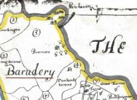 he 'fishing town' of New Haven (top, centre), just south of Bremore Head in north Dublin, as it appears on the Down Survey map for the barony of Balrothery.